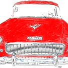 Vintage Red Chevy by Edward Fielding