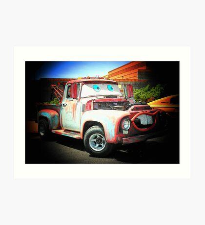 Talking Tow Truck.... Art Print