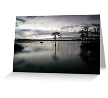 dusk on pond Greeting Card