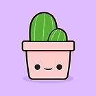Cactus in cute pot by peppermintpopuk
