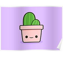 Cactus in cute pot Poster