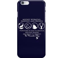 Moony, Wormtail, Padfoot, Prongs  iPhone Case/Skin