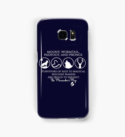 Moony, Wormtail, Padfoot, Prongs  Samsung Galaxy Case/Skin