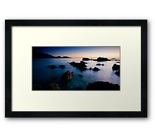 Dawn at the graveyard of rocks Framed Print