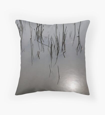 Stalks in the water Throw Pillow