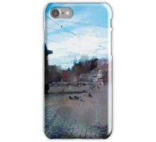 crossroads. windy day iPhone Case/Skin