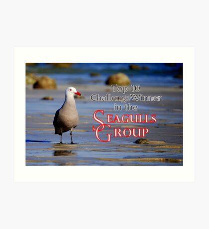 Seagulls Group Entry Art Print