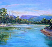 Tallebudgera Creek from Schuster Park  by Virginia McGowan