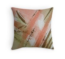 Symphony in Peach Throw Pillow