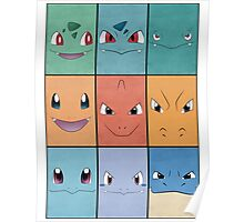 Kanto Starters - Phone Case Poster
