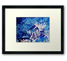 Crescendo in Blue Framed Print