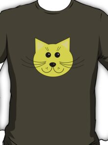 Cute Yellow Cartoon Cat T-Shirt