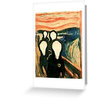 Wu Scream Greeting Card