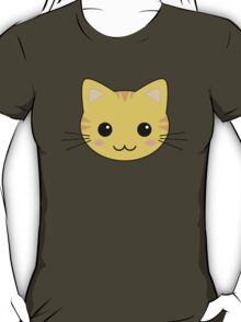 Cute Kawaii Yellow Tabby Cat T-Shirt