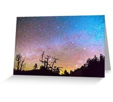 Galaxy Night Greeting Card