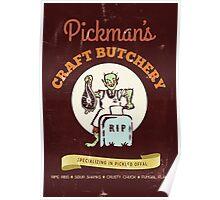 Pickman's Craft Butchery Poster