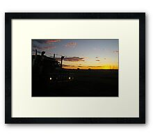 DISTRACTING WORKPLACE Framed Print