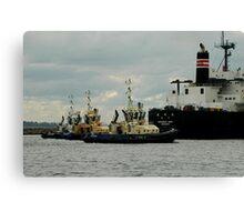 Phillip Woodman's Newcastle Harbour. Canvas Print