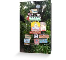 Animal Kingdom Signs Greeting Card
