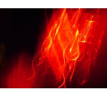 red laser light  Photographic Print