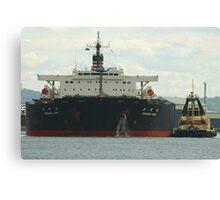 Coal ship Haramachi Maru - Newcastle Harbour NSW Canvas Print
