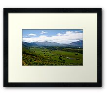 Crown Range NZ. Framed Print