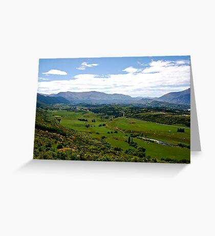 Crown Range NZ. Greeting Card