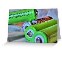 Flat batteries Greeting Card