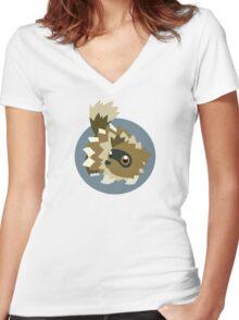 Zigzagoon - 3rd Gen Women's Fitted V-Neck T-Shirt