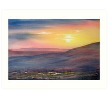 Sunset on Rosedale Head Art Print