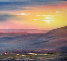 Sunset on Rosedale Head by Glenn  Marshall
