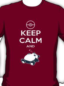 T-Shirt Keep Calm Snorlax T-Shirt