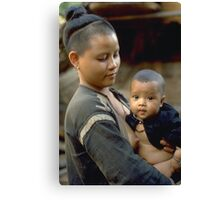 First born, a mother's love Canvas Print
