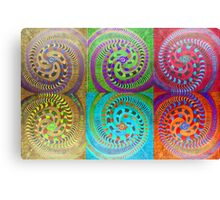 Variations on a colorful theme of Spirals Canvas Print