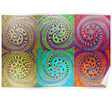 Variations on a colorful theme of Spirals Poster