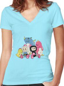 Bomberman Women's Fitted V-Neck T-Shirt