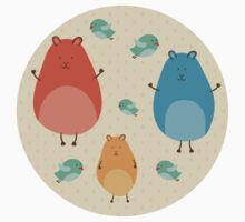 Cartoon funny hamsters Kids Clothes