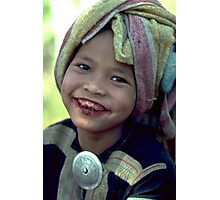 Lahu girl with betel smile Photographic Print