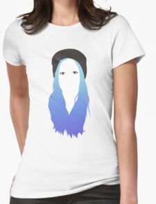 Blue Vector Womens Fitted T-Shirt