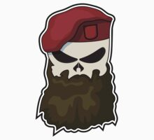 Tactical Bearded Skull Kids Clothes