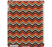 Orange, Black and White Ethnic Zigzag Pattern iPad Case/Skin