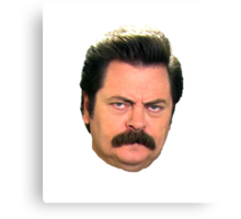 Ron Swanson (floating head) Canvas Print