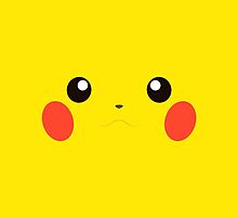Pikachu Face by LinearStudios