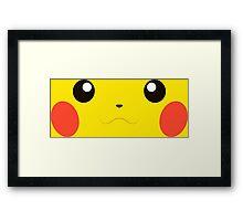 Pikachu Face Framed Print