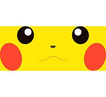 Pikachu Face Photographic Print