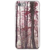 Ethereal Austrian Forest in Marsala Burgundy Wine iPhone Case/Skin