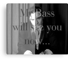 Mr Bass will see you now Canvas Print