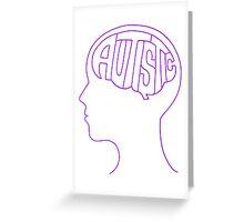 Autistic Mind – Purple Greeting Card