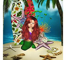 Little Mermaid Day At The Beach Photographic Print