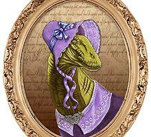 Charlotte Brontësaurus by iamdeirdre
